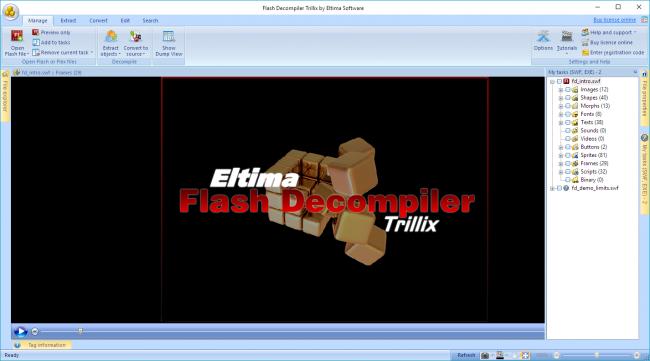 โปรแกรมแปลงไฟล์ Flash Decompiler Trillix
