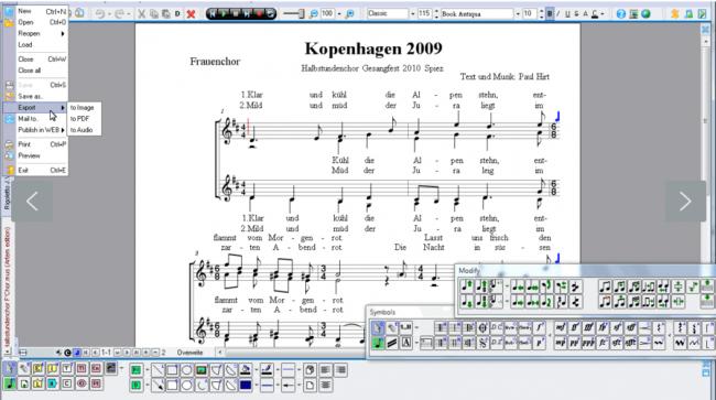 โปรแกรมเขียนโน๊ตเพลง MagicScore School