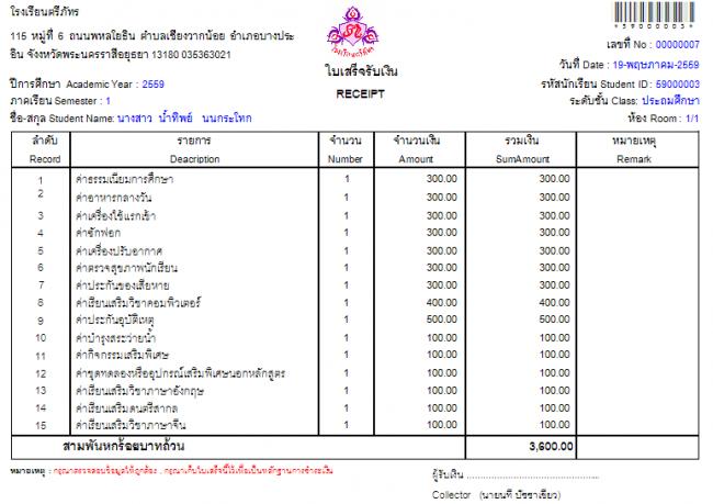 School Management Systems (ระบบบริหารงานโรงเรียน ภาษาไทย) :