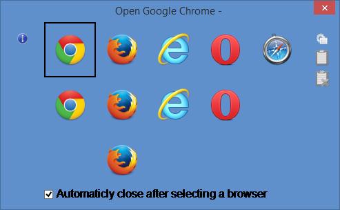 โปรแกรมเลือกเบราว์เซอร์ที่ต้องการใช้งาน Browser Chooser