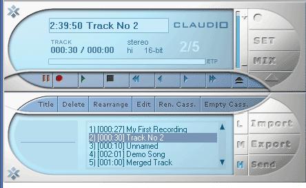 โปรแกรมปรับแต่ง บันทึกเสียง Claudio