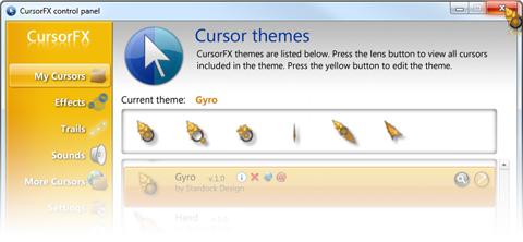 โปรแกรมสร้างรูปแบบเมาส์บนพีซี CursorFX