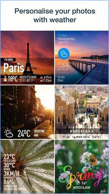 App ภาพรายงานอากาศ InstaWeather