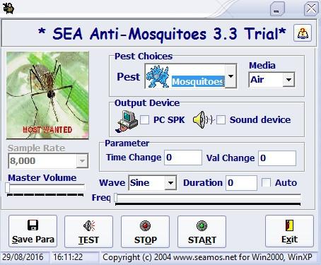 โปรแกรมไล่ยุง และกำจัดจุดกำเนิดยุง SEA Anti Mosquitoes