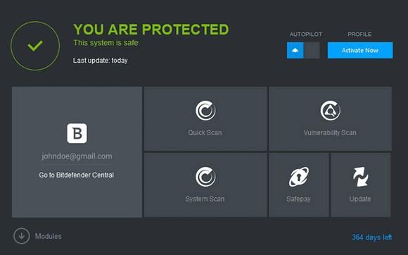 โปรแกรมสแกนไวรัส Bitdefender Antivirus Plus