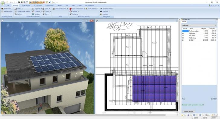 โปรแกรมออกแบบ 3 มิติ ตกแต่งภายใน Ashampoo 3D CAD Professional