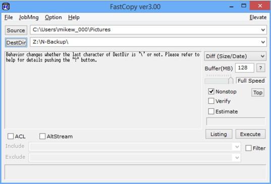 โปรแกรมก๊อปปี้ คัดลอกไฟล์ ลบไฟล์ FastCopy