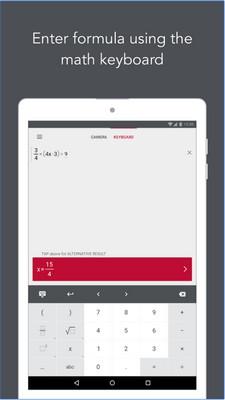 App ถ่ายรูป แก้โจทย์สมการPhotoMath