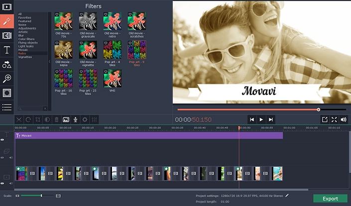 โปรแกรมจัดการวีดีโอ Movavi Video Suite