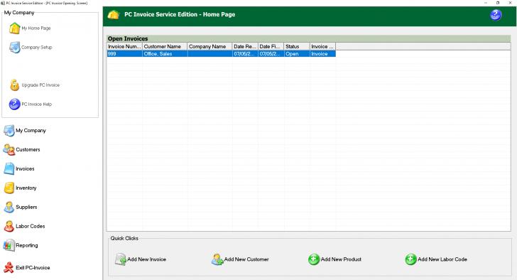 โปรแกรม สร้างใบทวงหนี้สำเร็จรูป PC Invoice