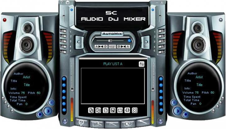 โปรแกรมมิกซ์เสียง SC Free Audio DJ Mixer