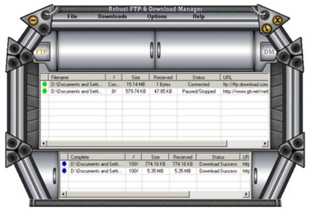 โปรแกรมรับส่งไฟล์ ดาวน์โหลดไฟล์Robust FTP And Download Manager