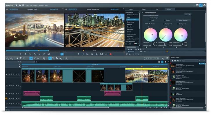 โปรแกรมตัดต่อวีดีโอ MAGIX Video Pro X
