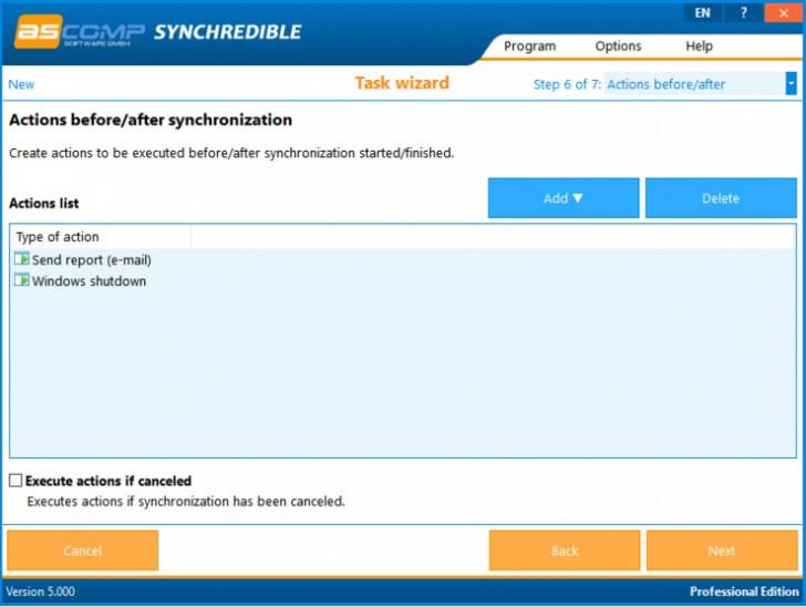 โปรแกรมซิงค์ไฟล์ สำรองข้อมูลSynchredible