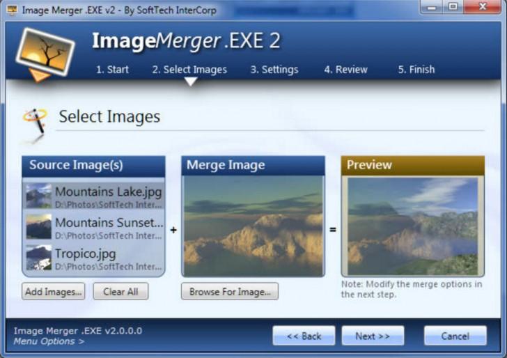 โปรแกรมรวมภาพ ตกแต่งภาพ Image Merger.EXE