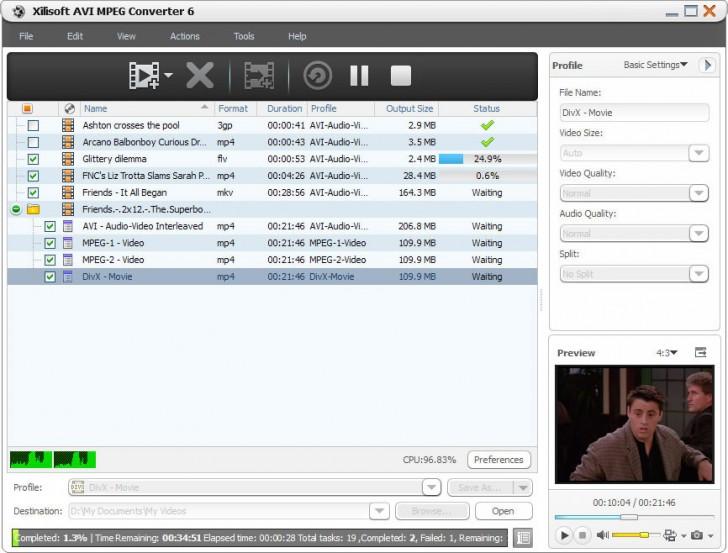 โปรแกรมแปลงไฟล์ Xilisoft AVI MPEG Converter