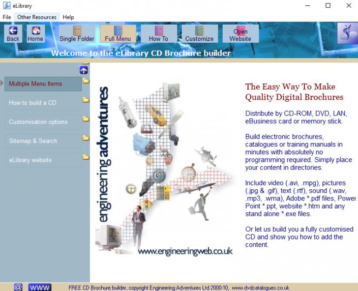 โปรแกรมสร้างโบรชัวร์  CD Brochure Builder
