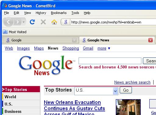 โปรแกรมเว็บเบราว์เซอร์ CometBird