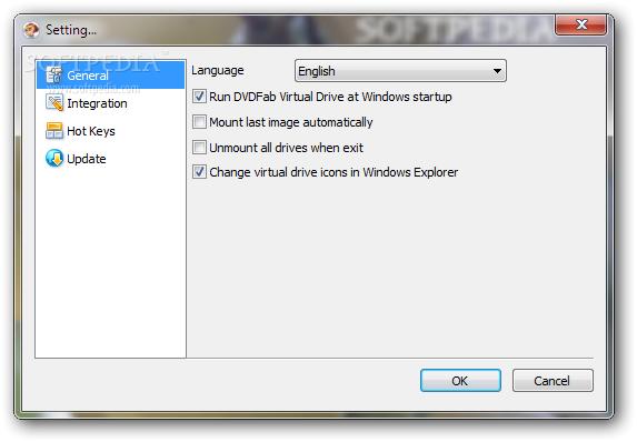 โปรแกรมจำลองไดรฟ์ DVDFab Virtual Drive