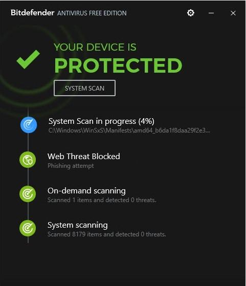โปรแกรมแอนตี้ไวรัสฟรี BitDefender