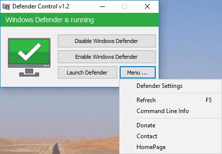 โปรแกรมควบคุม และ รักษาความปลอดภัยเครื่องDefender Control
