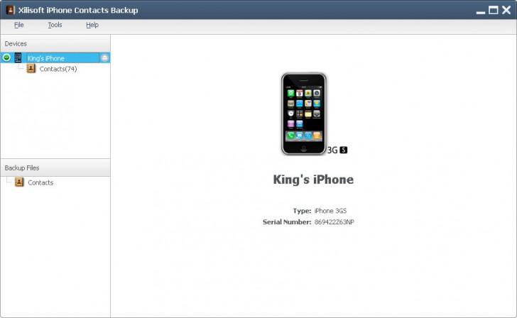 โปรแกรมสำรองข้อมูลXilisoft iPhone Contacts Backup