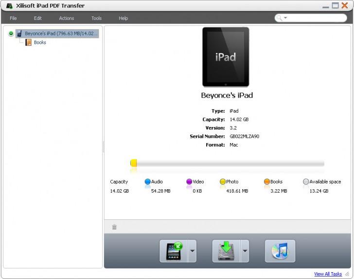 โปรแกรมถ่ายโอนไฟล์ Xilisoft iPad PDF Transfer