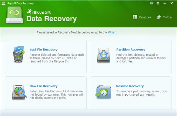 โปรแกรมกู้ข้อมูล iSkysoft Data Recovery