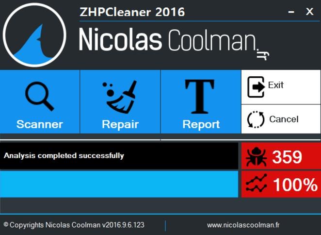ZHPCleaner (โปรแกรม ZHPCleaner ป้องกันแอดแวร์โฆษณา สปายแวร์) :