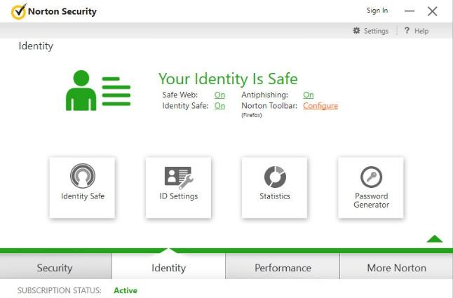 โปรแกรมสแกนไวรัส Norton Security
