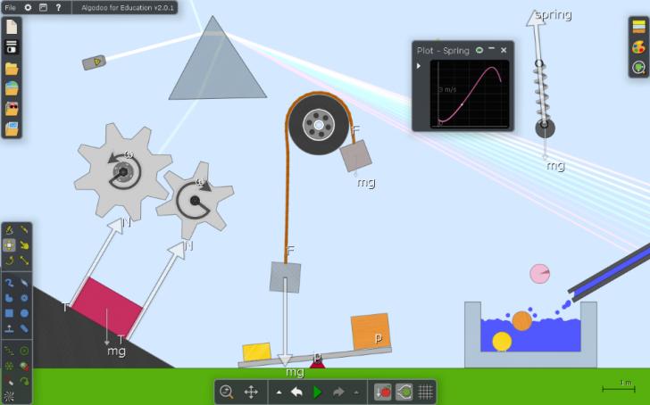 โปรแกรมจำลองภาพฟิสิกส์ 2 มิติ Algodoo