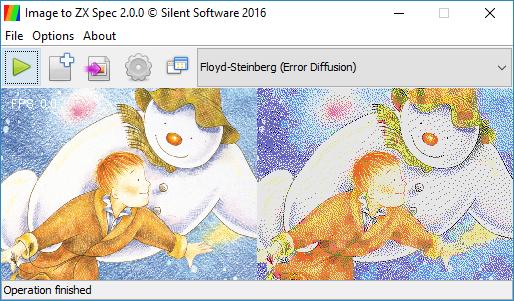 โปรแกรมเปลี่ยนภาพเป็นกราฟฟิก Image to ZX Spec