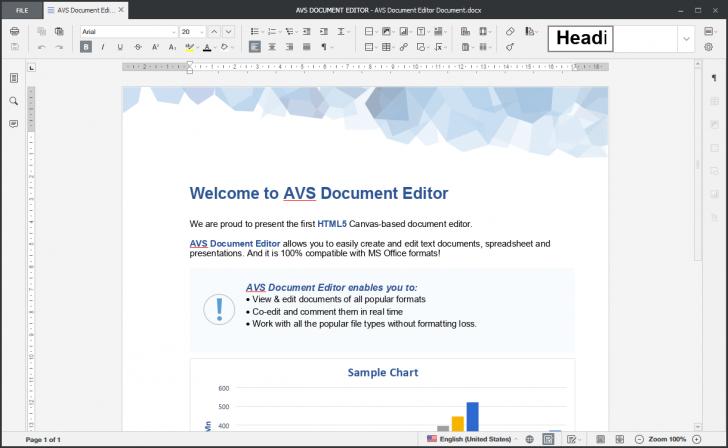 โปรแกรมจัดการเอกสาร AVS Document Editor