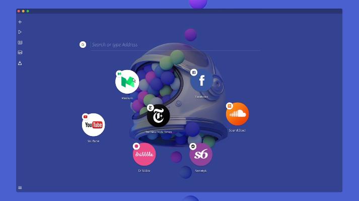 โปรแกรมเว็บเบราว์เซอร์ Opera Neon