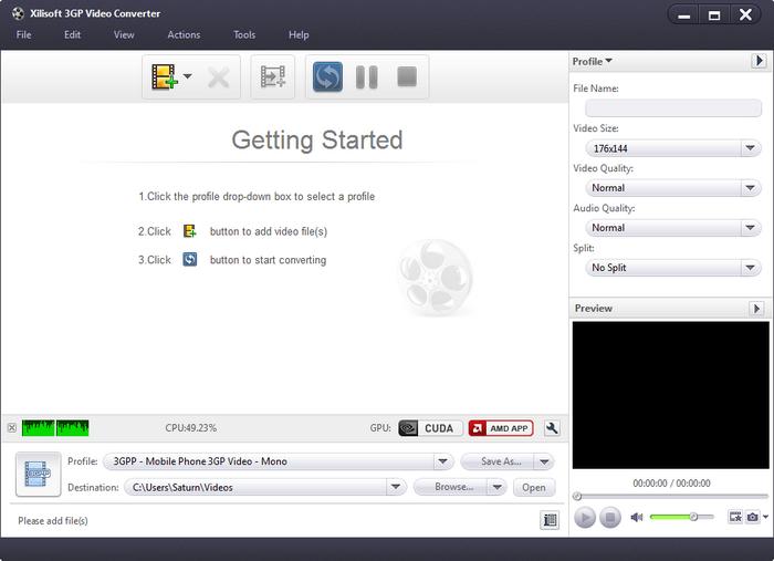 โปรแกรมแปลงไฟล์Xilisoft 3GP Video Converter
