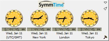 โปรแกรมดูเวลาทั่วโลก SymmTime