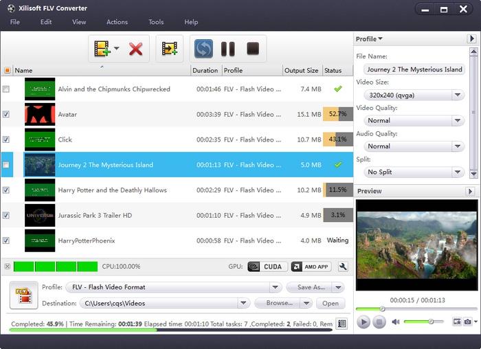 โปรแกรมแปลงไฟล์ Xilisoft FLV Converter