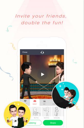 App สร้างวีดีโอ MV Myidol-3D Avatar Creator