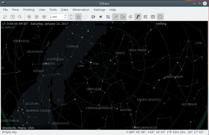 โปรแกรมท้องฟ้าจำลอง KStars
