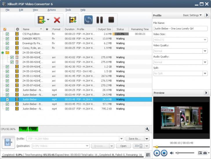 Xilisoft PSP Video Converter (โปรแกรมแปลงไฟล์ Video ลง PSP)