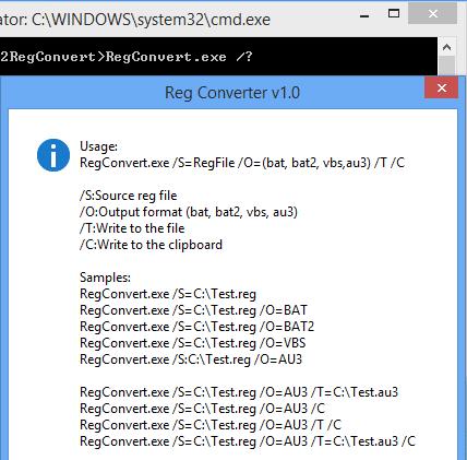 โปรแกรมจัดการไฟล์รีจิสทรี Reg Converter