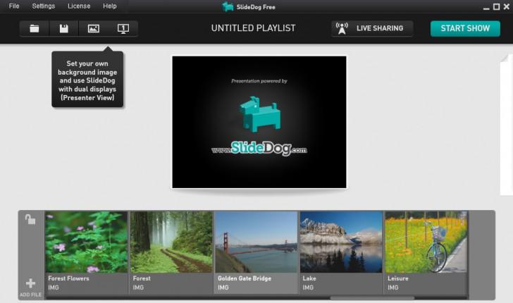 โปรแกรมทำสไลด์โชว์ SlideDog
