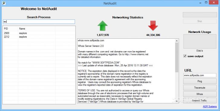 โปรแกรมดูข้อมูลเครือข่ายของตนเอง NetAudit