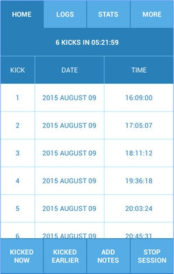 App นับลูกดิ้นในท้อง Kickme Baby Kicks Counter