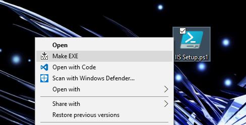 โปรแกรม สร้างไฟล์ Make-EXE