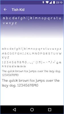 App เปลี่ยนฟอนต์บนแอนดรอยด์Thai Fonts for FlipFont