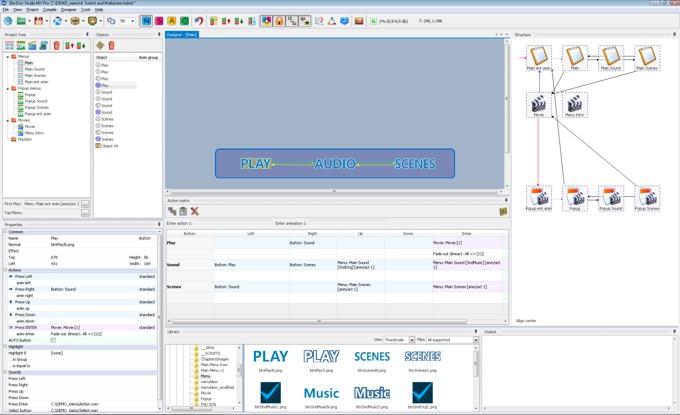 โปรแกรมสร้างแผ่นบลูเรย์พร้อมไตเติ้ลเมนู Blu-Disc Studio Lite