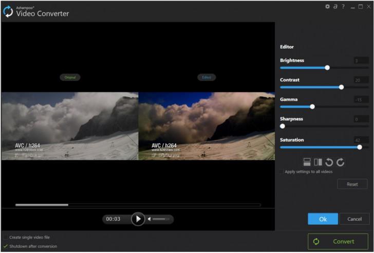 โปรแกรมแปลงไฟล์วีดีโอAshampoo Video Converter