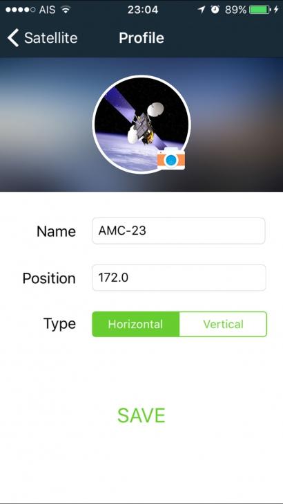 App ช่วยติดตั้งจานดาวเทียม sat pointer
