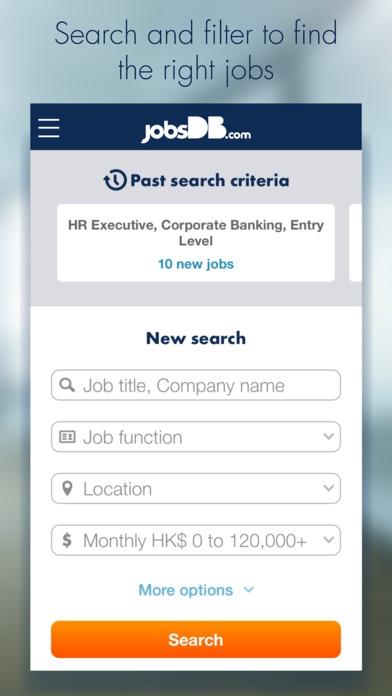 App หางาน ตำแหน่งงานว่าง jobsDB Job Search
